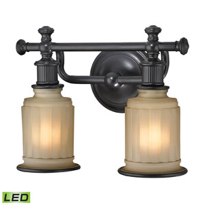 Acadia Oil Rubbed Bronze LED Two Light Bath Fixture