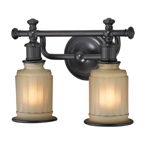 Acadia Oil Rubbed Bronze Two Light Bath Fixture