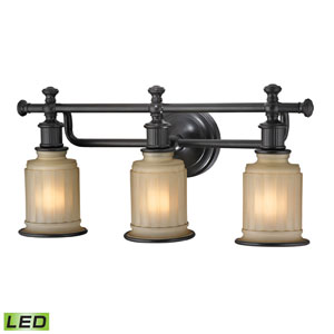 Acadia Oil Rubbed Bronze LED Three Light Bath Fixture
