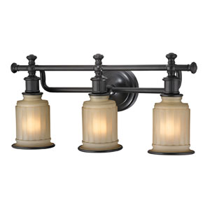 Acadia Oil Rubbed Bronze Three Light Bath Fixture