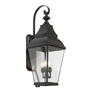 Bristol Charcoal Three Light Outdoor Sconce