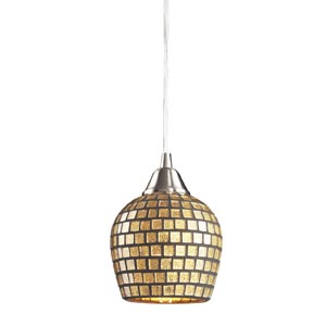 Fusion Satin Nickel Gold Mosaic Mini Pendant