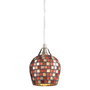 Fusion Satin Nickel Multi Mosaic Mini Pendant