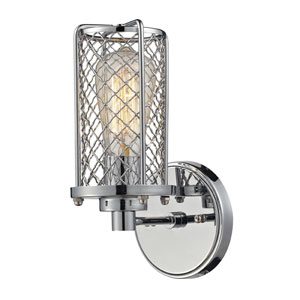 Brisbane Polished Chrome One Light Wall Sconce