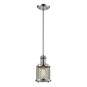 Brisbane Polished Chrome One Light Mini Pendant