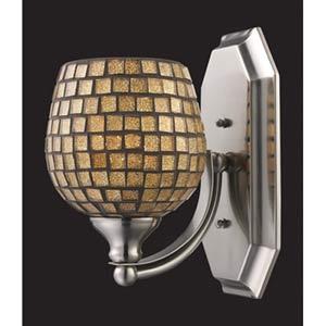 Gold Mosaic Polished Chrome One-Light Bath Fixture