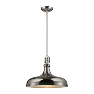 Rutherford Brushed Nickel 18-Inch One-Light Pendant