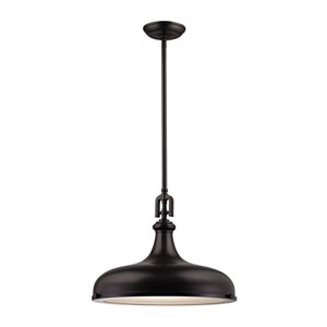 Rutherford Oil Rubbed Bronze 18-Inch One-Light Pendant