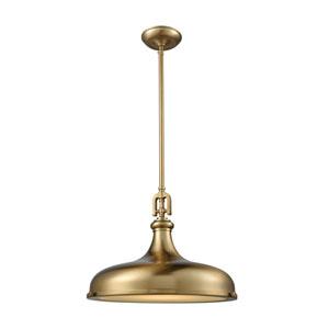 Rutherford Satin Brass 18-Inch One-Light Pendant