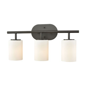 Pemlico Oil Rubbed Bronze Three-Light Vanity