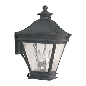 Landings Charcoal Three Light Outdoor Sconce