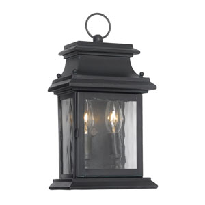 Charcoal Two-Light Outdoor Wall Sconce