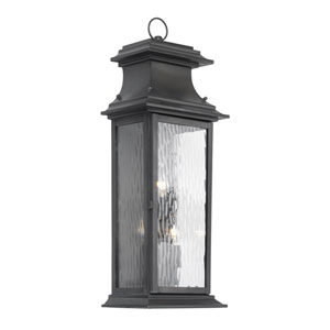 Charcoal Three-Light Outdoor Wall Sconce