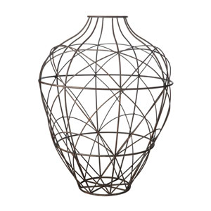 Russet Wire Brown Vase