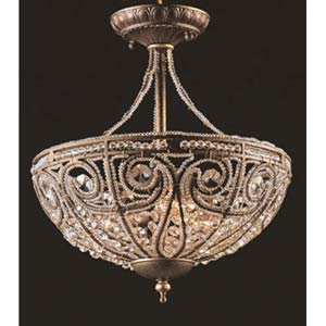 Elizabethan Semi-Flush Ceiling Light
