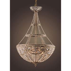 Elizabethan Four-Light Dark Bronze Bowl Pendant