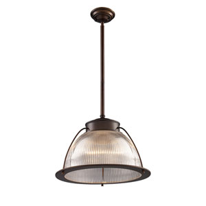 Halophane Aged Bronze 13-Inch One Light Pendant