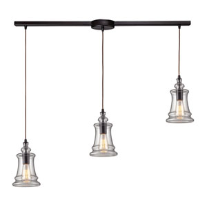 Menlow Park Oiled Bronze 36-Inch Three Light Pendant