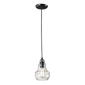 Menlow Park Oiled Bronze One-Light Mini Pendant