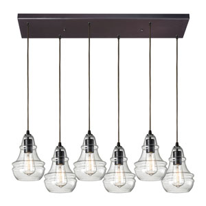 Menlow Park Oiled Bronze Six-Light Pendant