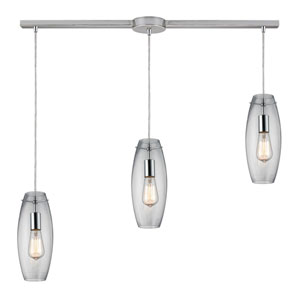 Menlow Park Polished Chrome Three-Light Pendant