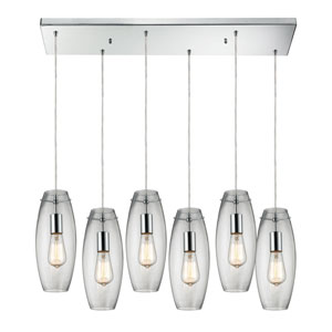 Menlow Park Polished Chrome Six-Light Pendant