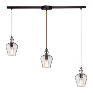 Menlow Park Oil Rubbed Bronze Three Light Chandelier