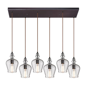 Menlow Park Oil Rubbed Bronze Six Light Chandelier