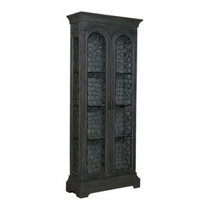 Handpainted Winston Cottage Gray Cabinet