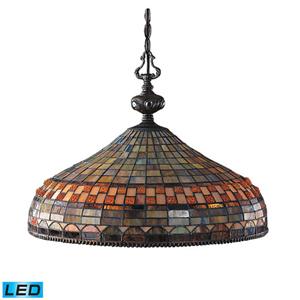 Jewelstone Classic Bronze LED Three Light Pendant