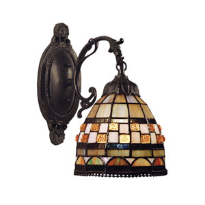 Jewelstone Classic Bronze One Light Wall Sconce