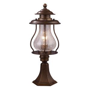 Wikshire Coffee Bronze One Light Outdoor Post Light