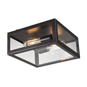 Parameters-Bronze Bronze Two Light Flush Mount Fixture