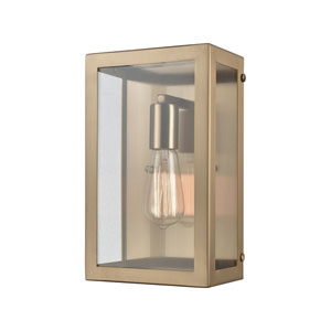 Parameters Satin Brass One-Light Wall Sconce