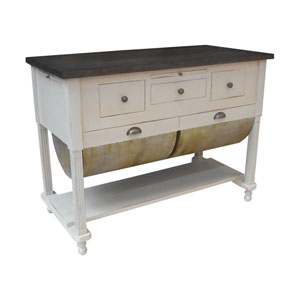 Handpainted Possum Belly Kitchen Island