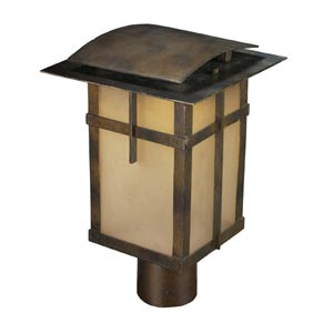 San Fernando Hazelnut Bronze One-Light Outdoor Post Light