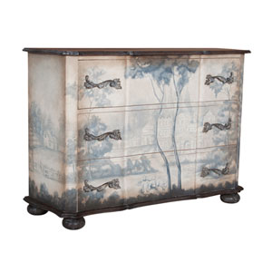 Handpainted Duchess Grey Stain Hand Painted Chest