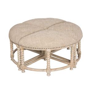 Handpainted Gray Ottoman Table