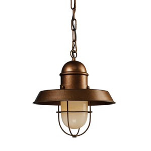 Farmhouse Bellwether Copper 13-Inch One Light Pendant