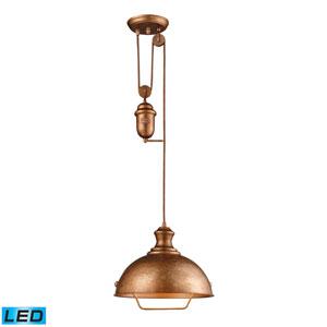 Farmhouse Bellwether Copper LED Pendant