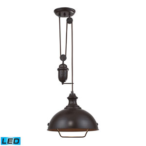 Farmhouse Oiled Bronze LED Pendant