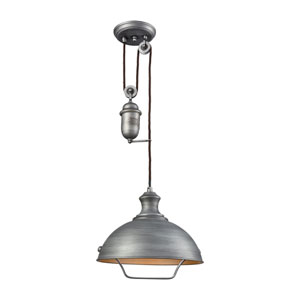Farmhouse Weathered Zinc One-Light Pendant