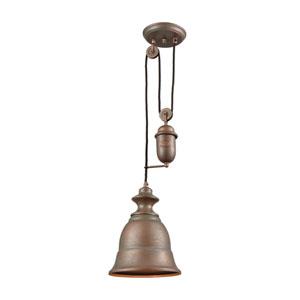 Farmhouse Tarnished Brass One-Light Mini Pendant