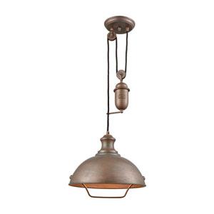 Farmhouse Tarnished Brass One-Light Pendant