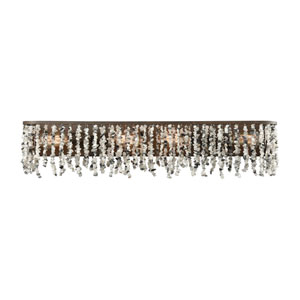 Agate Stones Weathered Bronze 34-Inch Four-Light Vanity with Gray Agate Stones