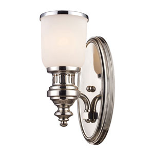 Chadwick Polished Nickel One Light Wall Sconce