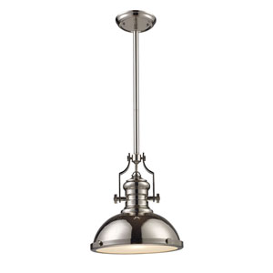 Chadwick Polished Nickel and antique Copper 14-Inch One Light Pendant
