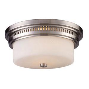 Chadwick Satin Nickel 5-Inch Two Light Flush Mount Fixture