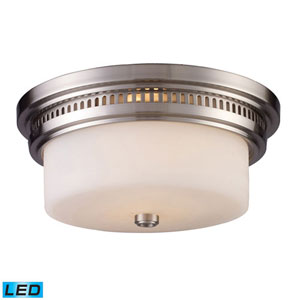 Chadwick Satin Nickel 5-Inch LED Two Light Flush Mount Fixture