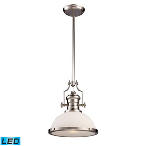 Chadwick Satin Nickel 14-Inch LED One Light Pendant